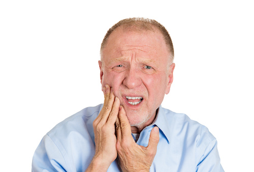Older Man With Tooth Pain